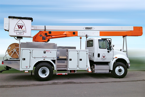 Versalift VN-55 bucket truck